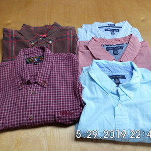 Lot 5 Mens Shirts Tom Bahama/Izod/Tom Hillfiger XL